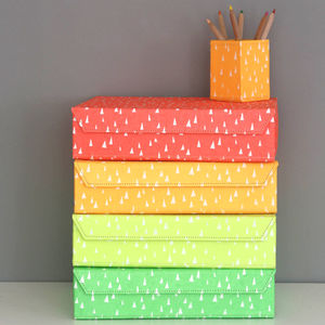 Recycled Fluoro Brights A4 Storage Box