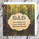 'Guiding Hand' Dad Card