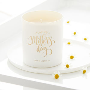 Personalised 'Happy Mother's Day' Scented Candle - home accessories