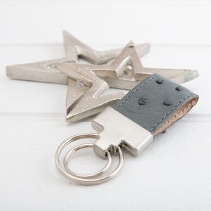Ostrich Leather Keyring