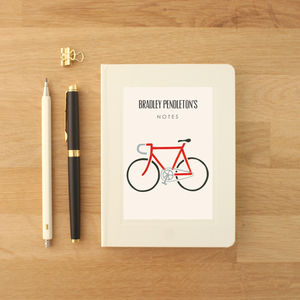 Personalised Bike Notebook - gifts for cyclists