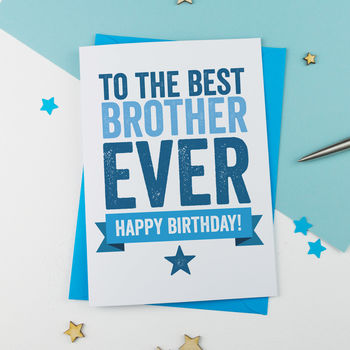 Best Brother Birthday Card