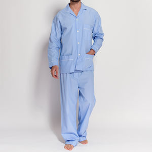 Men's Pyjamas Crisp Blue And White Stripe