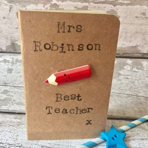 Personalised Best Teacher Notebook - personalised