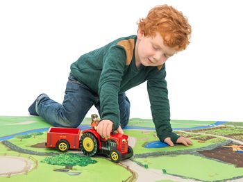 Personalised Large Wooden Play Tractor