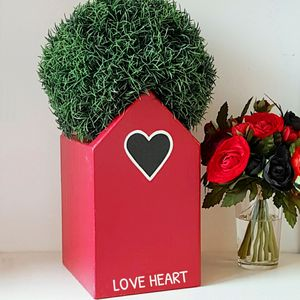 Personalised Love Heart Plant Holder