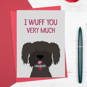 I Wuff You Very Much Cockapoo Dog Card