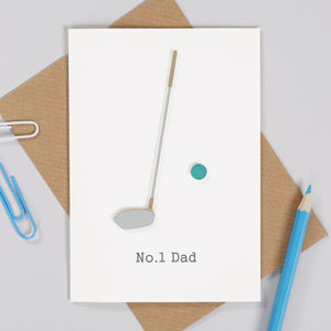 Personalised Fathers Day Golf Card For Him