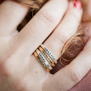 Personalised Stacker Ring - rings