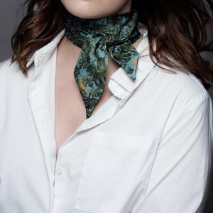 Tropical Silk Choker, Neckerchief Or Hair Scarf