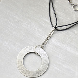 Bold Circle Pendant Necklace