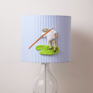 Mr Jeremy Fisher™ 3D Appliqué Handmade Lampshade - lighting