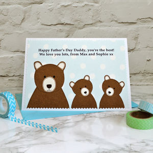 'Daddy Bear' Personalised Father's Day Card