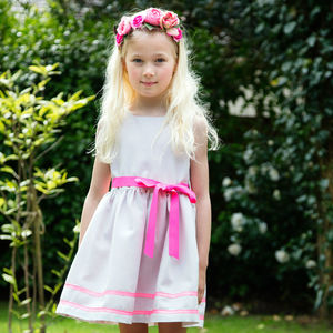 Girls Silver Sparkle Dress - clothing