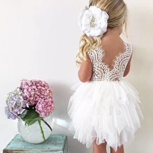 Aria ~ Party Dress White | Apricot | Off White | Lilac - clothing