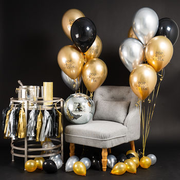 Pack Of 14 Glitz And Glam Let's Party Balloons