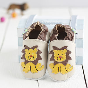 Lion Soft Leather Baby Shoes - clothing