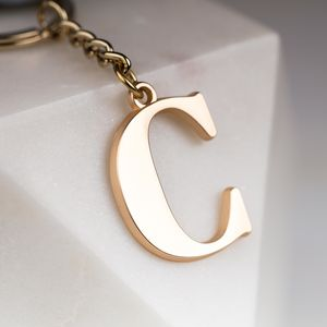 Soft Gold Letter Bag Charm - bags