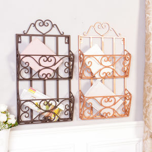 Two Tier Magazine Rack In Copper Or Iron