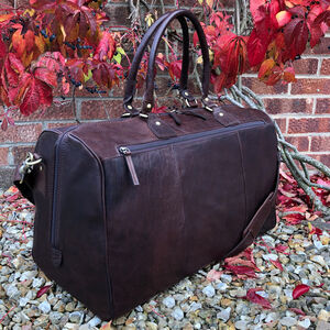 Men's Luxury Large Buffalo Leather Holdall, Travel Bag