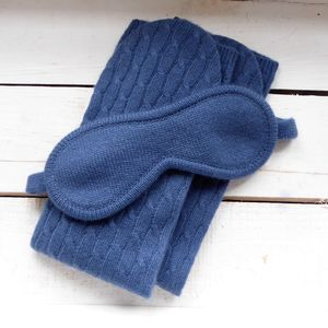 100% Cashmere Bed Socks And Eye Mask Set