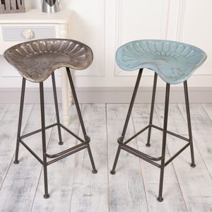 Industrial Tractor Kitchen Stools - kitchen