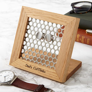 'Hive' Personalised Cufflink Stand - bedroom