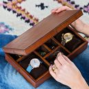 Personalised Leather Jewellery Box Large