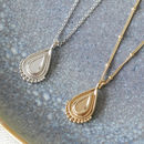 Unity Teardrop Pendant Necklace In Silver Or Gold