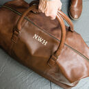 Personalised Vintage Nuhide Leather Holdall