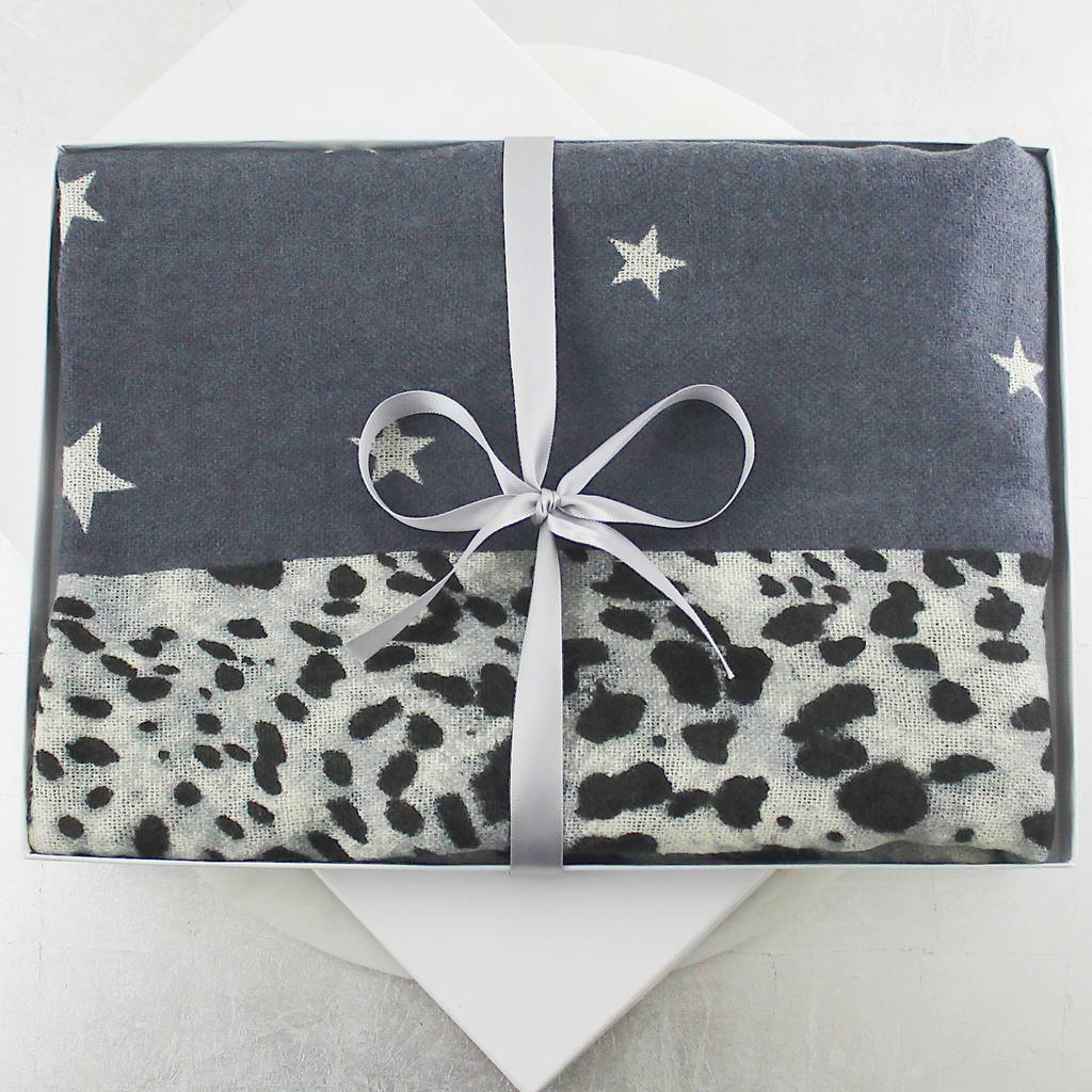 Leopard And Stars Scarf