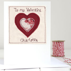 Personalised Heart Valentine's Card - wedding, engagement & anniversary cards