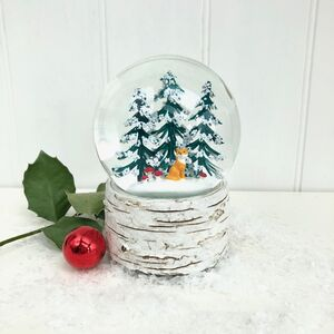Musical Christmas Snow Globe With Fox