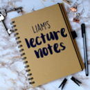 Personalised Lecture Notes Notebook