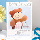 Personalised Bear Relation Birthday Card