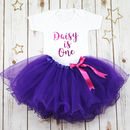 Personalised First Birthday Baby Girl's Tutu Outfit