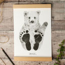 Personalised Baby Polar Bear Footprint Kit