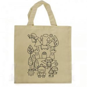 Colour In Canvas Tote Bag