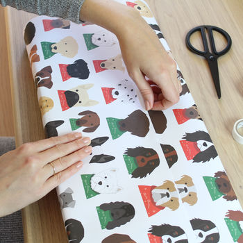 Dogs In Christmas Jumpers Wrapping Paper