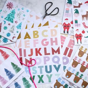 Christmas Wrapping Stickers
