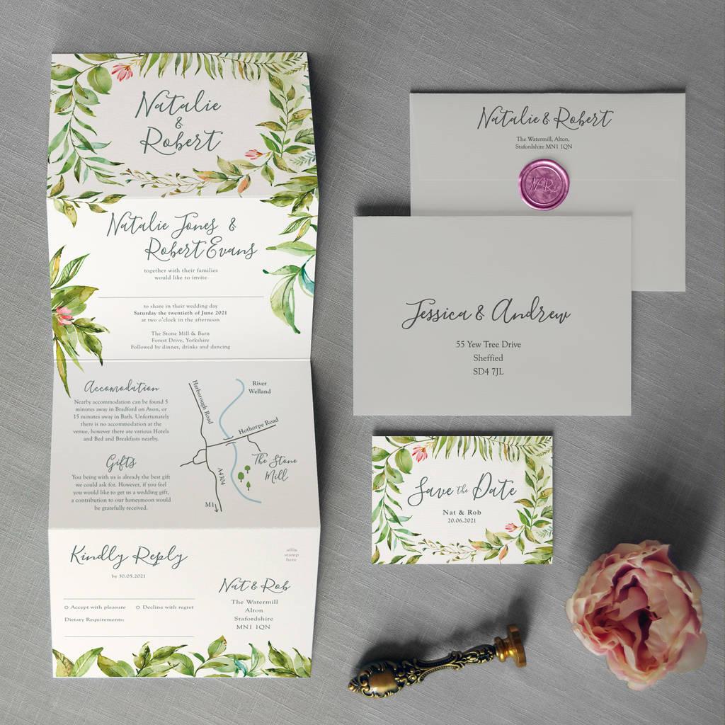 Paradise Garden Wedding Invitation By Feel Good Wedding