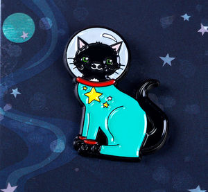 'Space Cat Pin', 'Cat Enamel Pin'