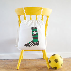 Football Boot Personalised Kit Bag - children's room accessories
