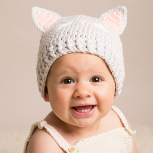 Hand Crochet Baby Cat Hats - winter sale