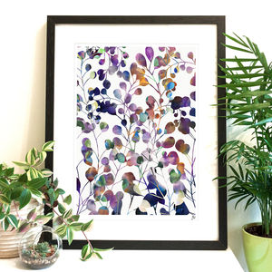 Botanica Abstract Floral Fine Art Giclée Print | A4 A3 - modern & abstract