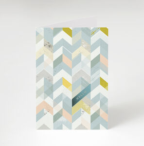Geometric 'Hello' Greetings Card