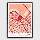 Liverpool, Legends Of Anfield Football Map Print
