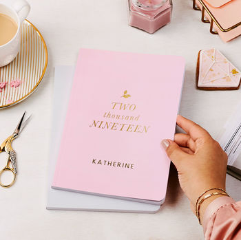 Personalised Stylish 2019 Weekly Diary