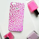 Orchid Print Pink Dotty Monogram Phone Case