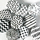 Black and White Badges